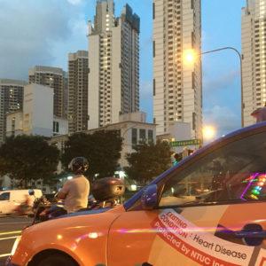 タクシーからの風景