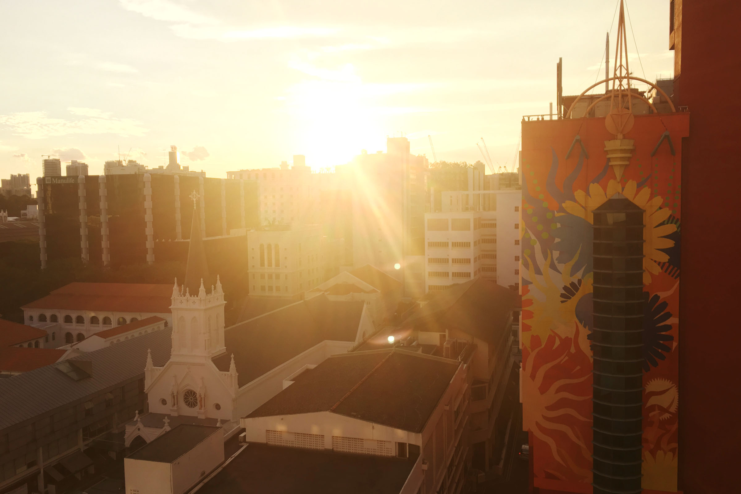 ROYAL@QUEENSホテルからの眺め